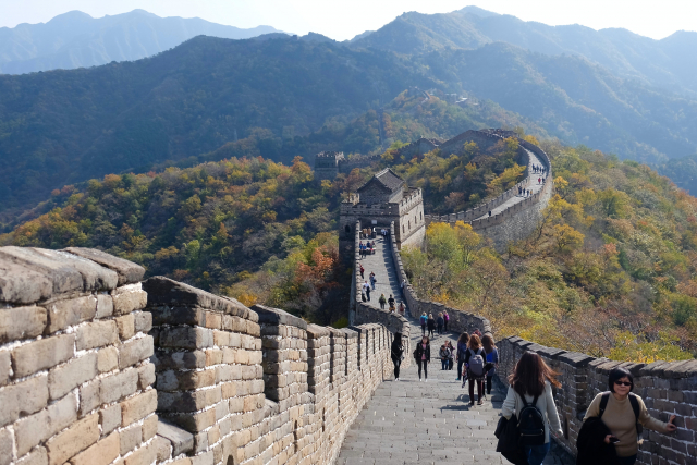 A sunny day on the Great Wall of China