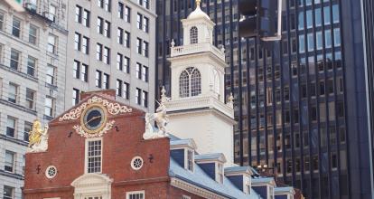 A historic brick building in Boston